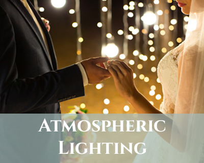 atmospheric wedding lighting