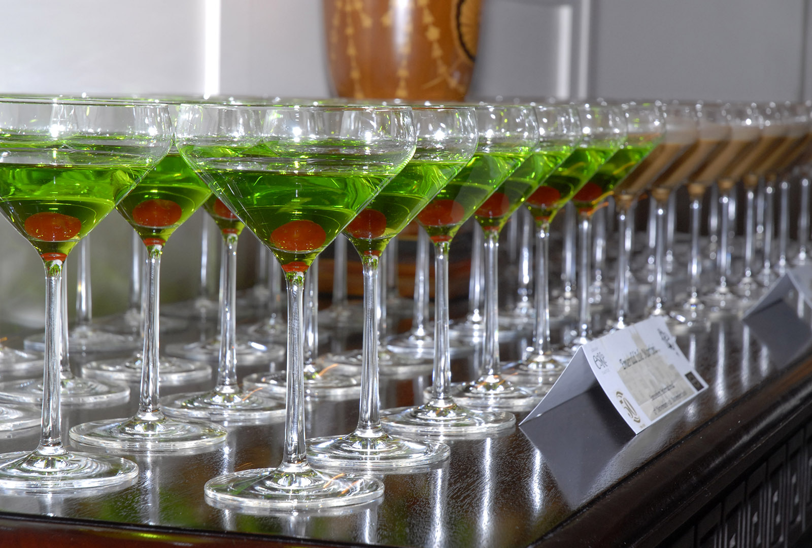 cocktails at an event